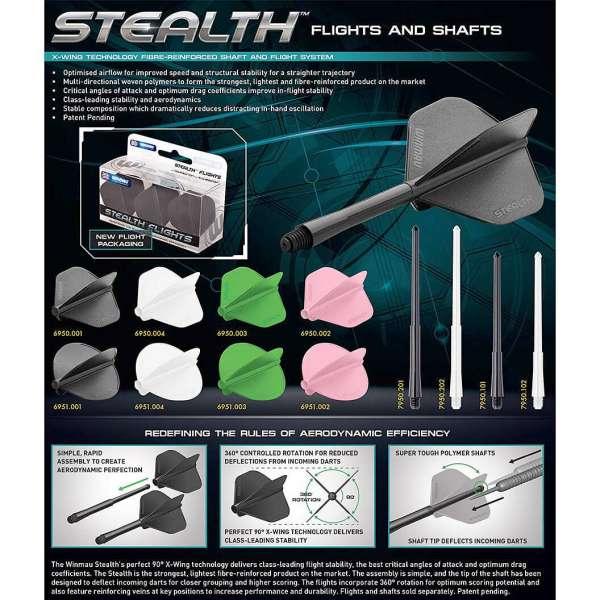 Winmau - Stealth Shaft - Schwarz