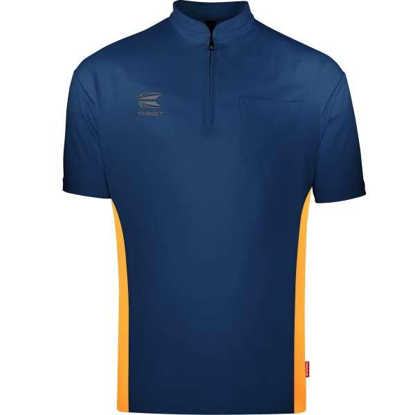 Target - Coolplay Collarless Dartshirt - Blau/Orange