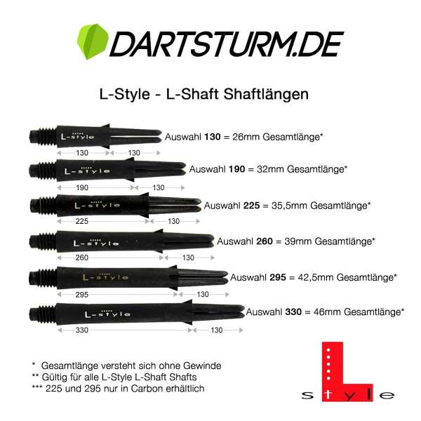 L-Style - L-Shaft Lock Straight - Schwarz Klar