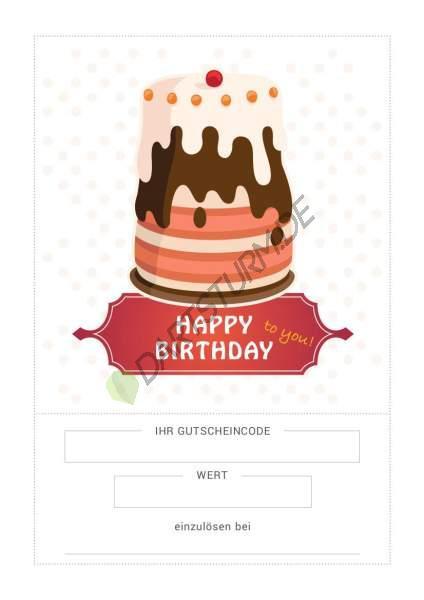 DartSturm.de - Geschenkgutschein Geburtstag - per E-Mail