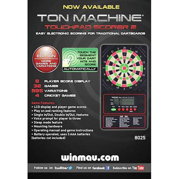 Winmau - Ton Machine® Touch Pad Scorer 2