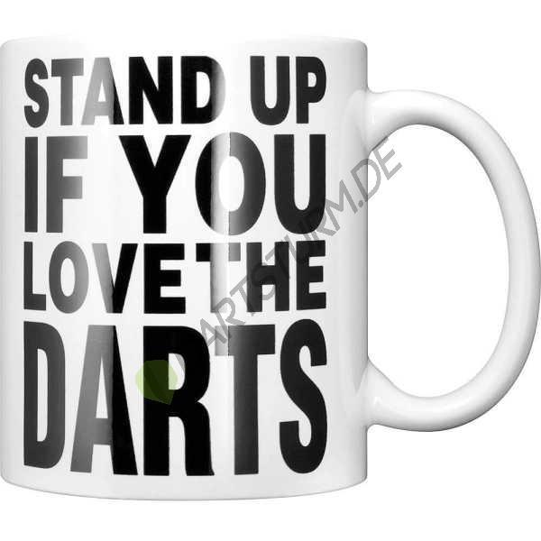 DartSturm.de - Darttasse - Stand up if you love the darts