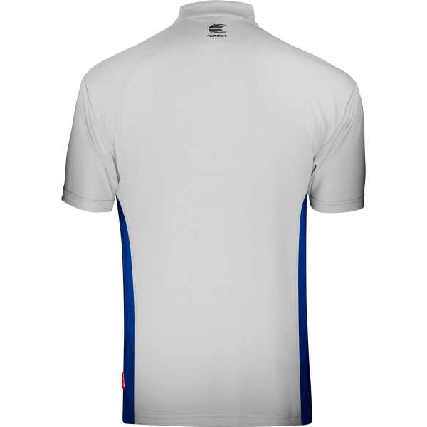 Target - Coolplay Collarless Dartshirt - Grau/Blau