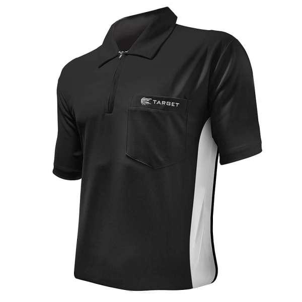 Target - Coolplay Hybrid Dartshirt - Schwarz/Weiß
