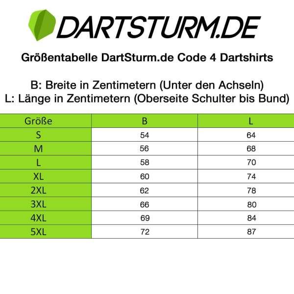 DartSturm.de - Code 4 Dartshirt - Grau