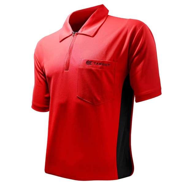 Target - Coolplay Hybrid Dartshirt - Rot/Schwarz