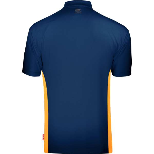 Target - Coolplay Collarless Dartshirt - Blau/Orange