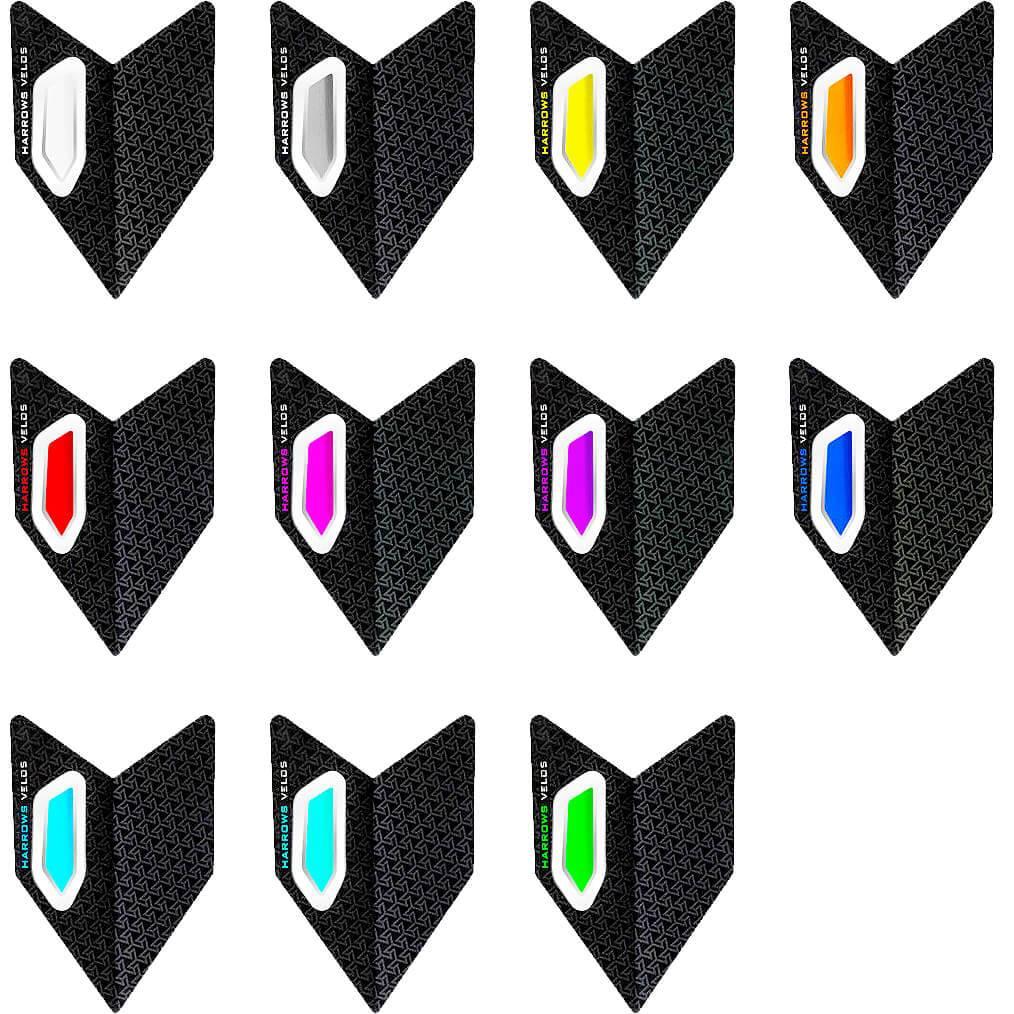 Grau//schwarz Harrows Retina Standard Dart Flights 5 Sätze