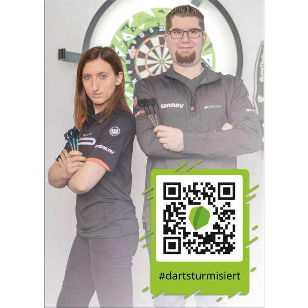 DartSturm.de - Autogrammkarte - DIN A6