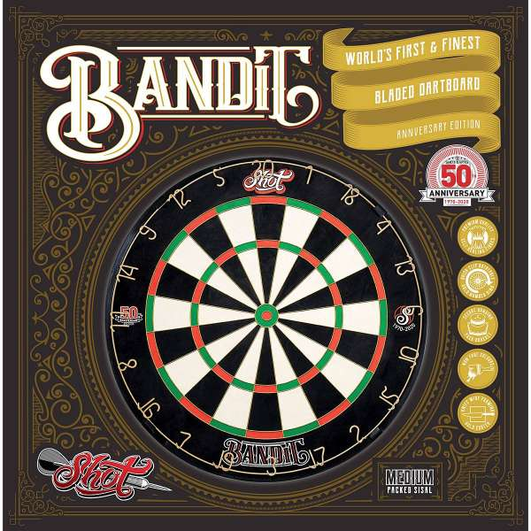 Shot! - Bandit 50 Jahre Edition Limitiertes Dartboard