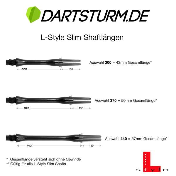 L-Style - L-Shaft Silent Slim Spinner - Weiß Klar