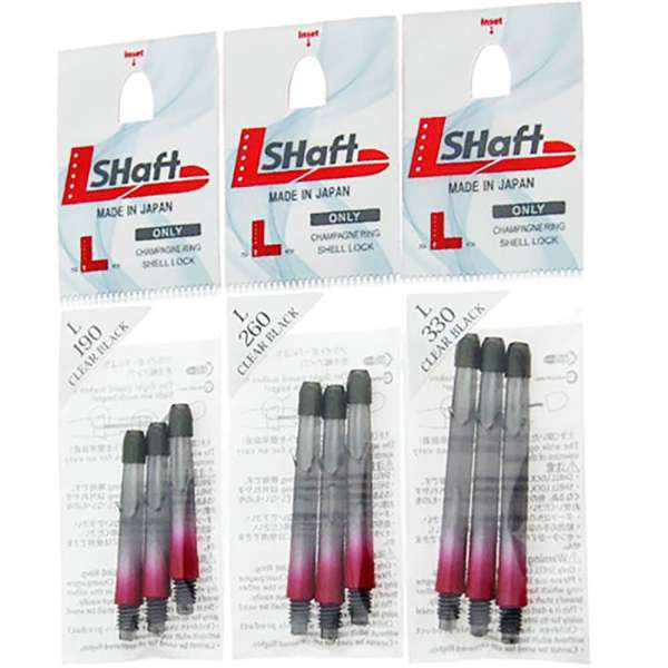L-Style - L-Shaft Lock Straight TwoTone - Schwarz Klar Rot