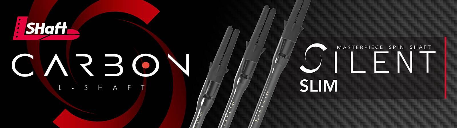 L-Style L-Shaft Carbon Silent Slim Spinner Shafts