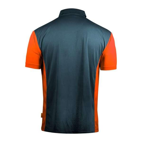 Target - Coolplay Hybrid 3 Dartshirt - Stahlblau / Orange