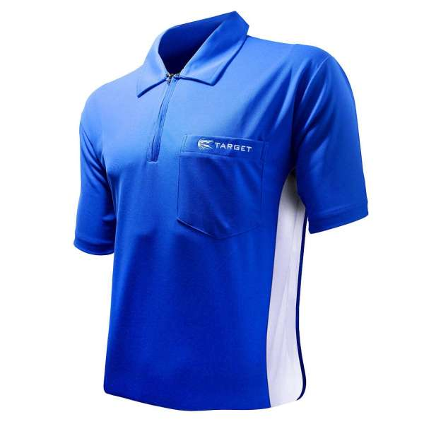 Target - Coolplay Hybrid Dartshirt - Blau/Weiß