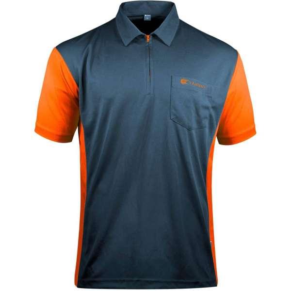 Target - Coolplay Hybrid 3 Dartshirt - Stahlblau/Orange