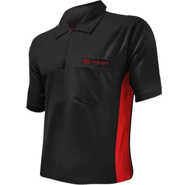 Target - Coolplay Hybrid Dartshirt - Schwarz/Rot