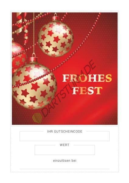 DartSturm.de - Geschenkgutschein Weihnachten - per E-Mail