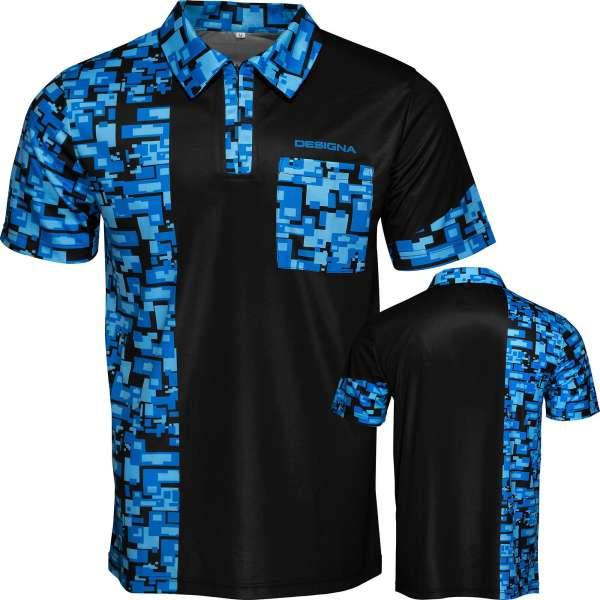 DartSturm.de - Code 4 Dartshirt - Blau