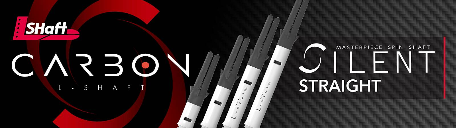 L-Style L-Shaft Carbon Silent Straight Spinner Shafts