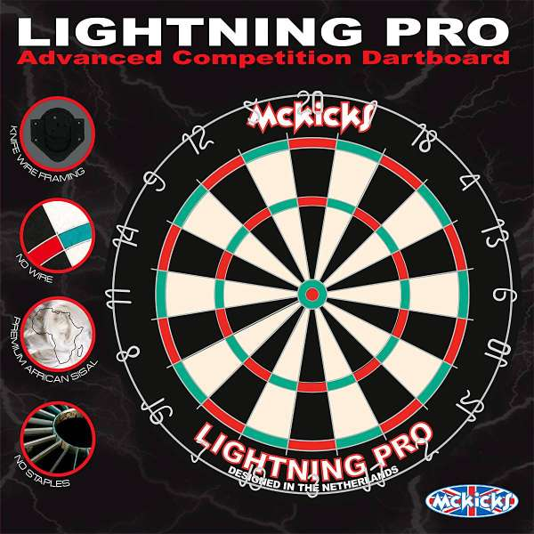 McKicks - Lightning Pro Dartboard
