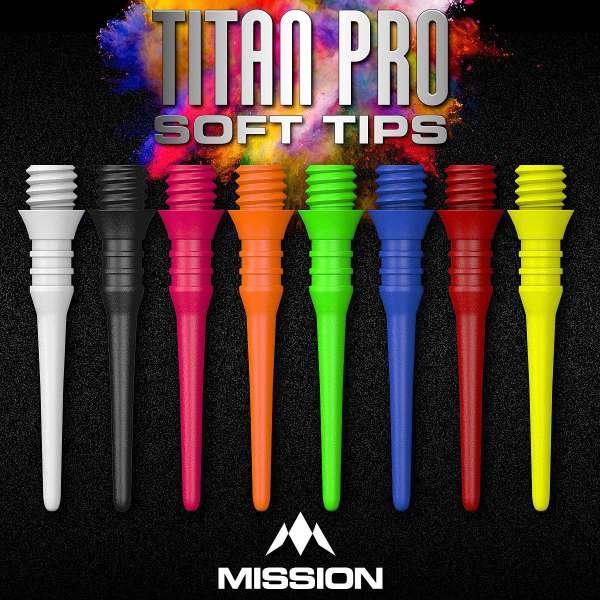 Mission - Titan Pro Softdartspitzen - 50er Pack