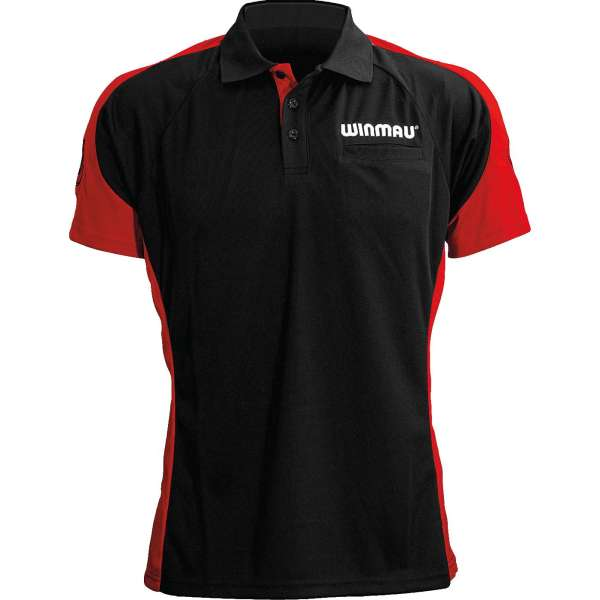 Winmau - WinCool 3 Dartshirt - Schwarz/Rot
