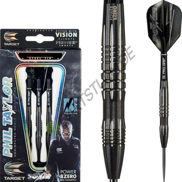 Target - Phil Taylor Power 8zero Black Titanium Typ C - Steeldart